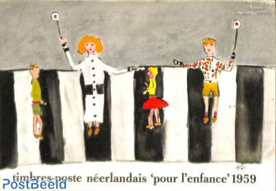 Original Dutch promotional folder from 1959, Child welfare, French language