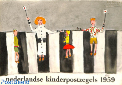 Original Dutch promotional folder from 1959, Child welfare, Dutch language