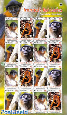 WWF, Monkeys 4v minisheet