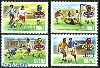 World Cup Football winners 4v