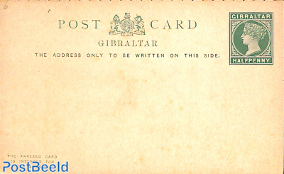 Reply Paid Postcard 1/2/1/2d