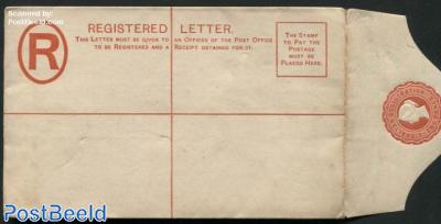 Registered envelope 2d 152x96mm, Thos. De La Rue & Co. Patent