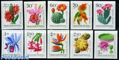 Botanic garden flowers 10v imperforated