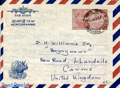 Airmail letter to U.K.