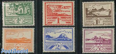 German occupation 6v