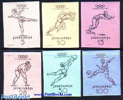Olympic games 6v imperforated