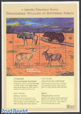 Stamp show, animals 4v m/s