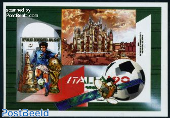 World Cup Football s/s, imperforated