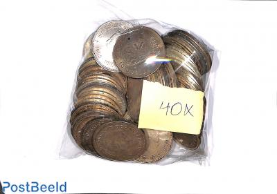 40x zilveren tientjes 1970/1973