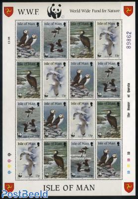 WWF, Birds minisheet (= 4 sets)
