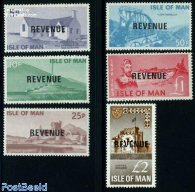 Revenue stamps 6v
