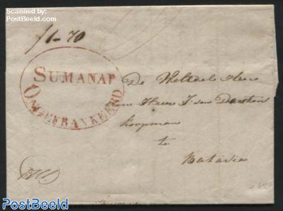 Letter with postmark: SUMANAP Ongefrankeerd