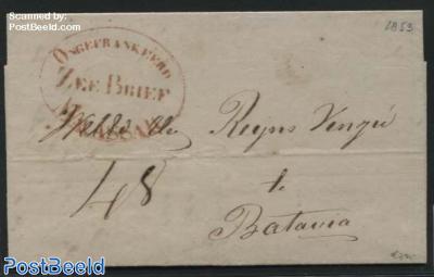 Ship Letter, Zeebrief to Batavia