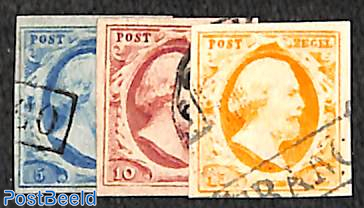 Definitives Willem III, used set with good margins