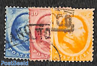 Definitives Willem II, used set