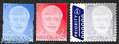 Definitives king Willem Alexander with year 2018 3v s-a