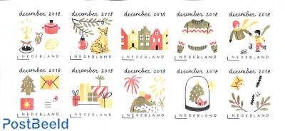 December stamps 10v s-a