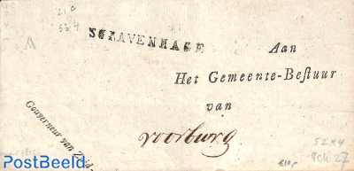 Folded envelope to Voorburg, from The Hague.