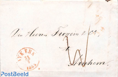 Folding letter from Amsterdam to Helmond
