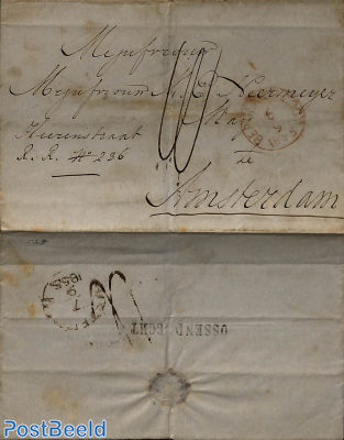 Letter from Ossendrecht to Amsterdam