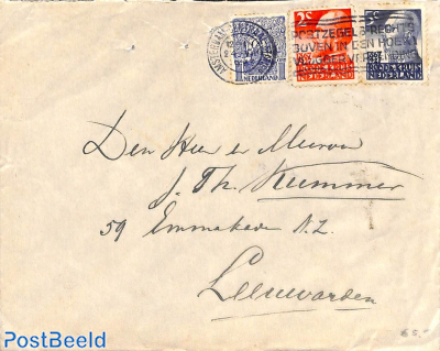 Letter with Red Cross stamps
