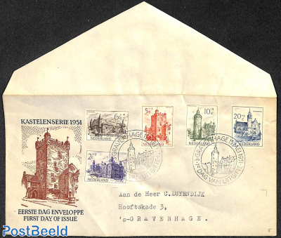 Summer, FDC, Typed address, open flap, somewhat wrinkled cover