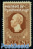 20c, King Willem II, perf. 11.5