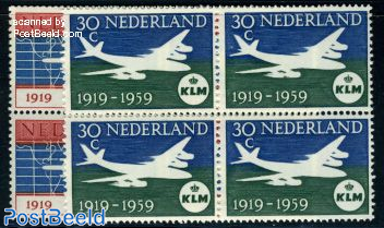 KLM Anniversary 2v blocks of 4 [+]