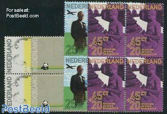 Prince Bernhard 4v, Blocks of 4 [+]