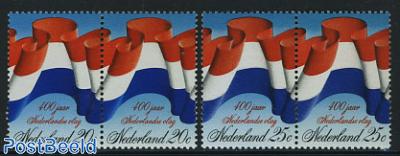 400 Years flag 2 pairs