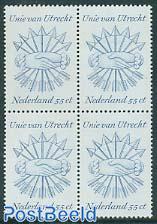 Union of Utrecht 1v block of 4 [+]