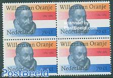 Willem van Oranje block of 4 [+]