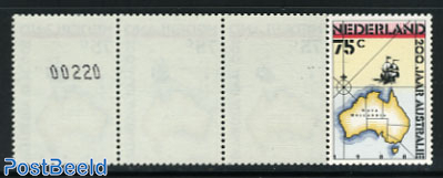200 Years Australia strip of 5