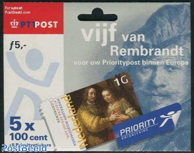 Vijf van Rembrandt, Hang pack