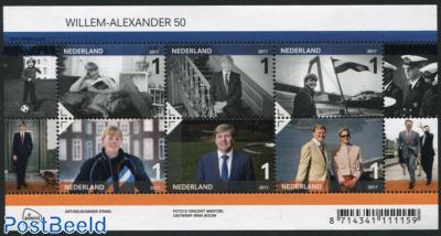 King Willem-Alexander 50th birthday 6v m/s