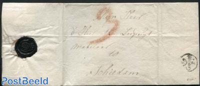 Letter to Schiedam, postmark: Gouda (3s)