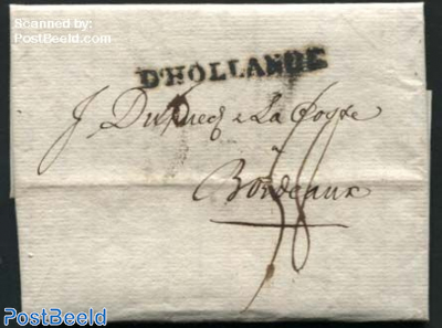 Letter from Amsterdam to Bordeaux