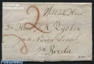 Letter from Dordrecht to Breda