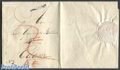 Registered letter from Alkmaar to Edam