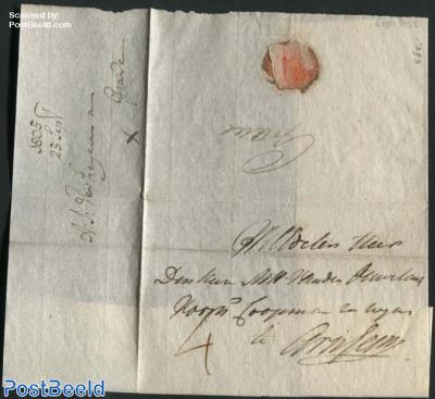Letter from Grave to Arnhem, 25 Sep 1805