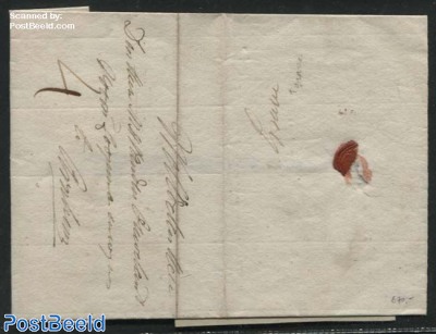Folding letter from Grave to Arnhem (4s)