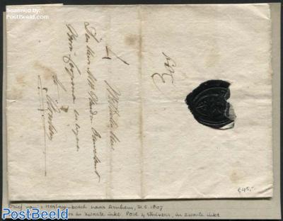 Letter from s-Hertogenbosch to Arnhem