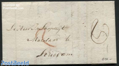 Letter from Delfshaven to Schiedam