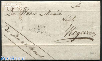 Letter from Meppel to Hoogeveen