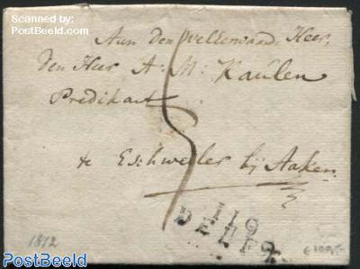 Letter from Delft to Eschweiler (D)