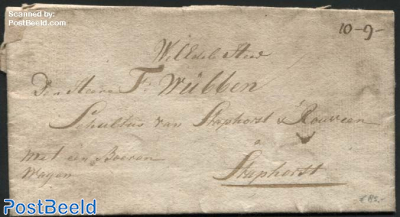 Letter from Roode Hart to Staphorst by Farmers Wagon
