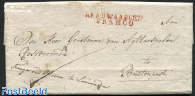 Letter (Opsporingsbevel, Wanted person letter) from Leeuwarden to Buitenpost