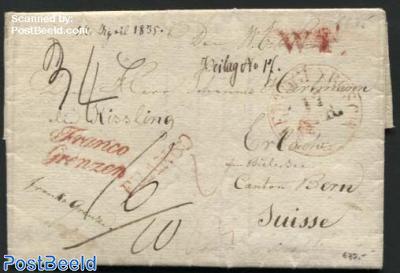 Letter from Veghel (postmark: s-Hertogenbosch) to Switzerland