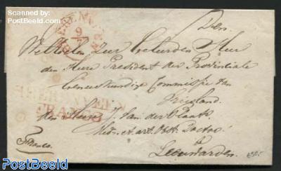 Franco letter from Heerenveen to Leeuwarden