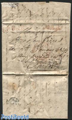 Letter from s-Gravenhage to Paris via Thionville